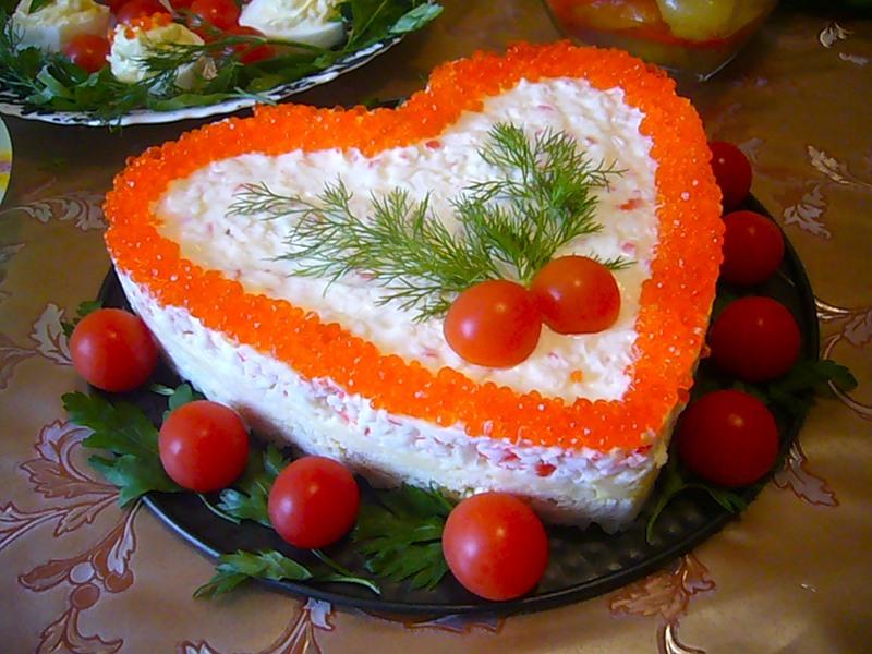 Украшение и рецепты салатов и их 47