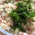 Белорусский салат с крабовыми палочками