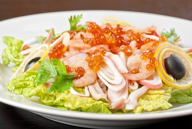 салат нептун с креветками