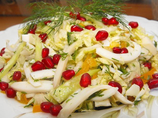 салат с креветками и китайской капустой