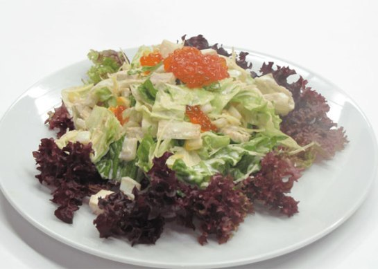 салат нептун с морской капустой