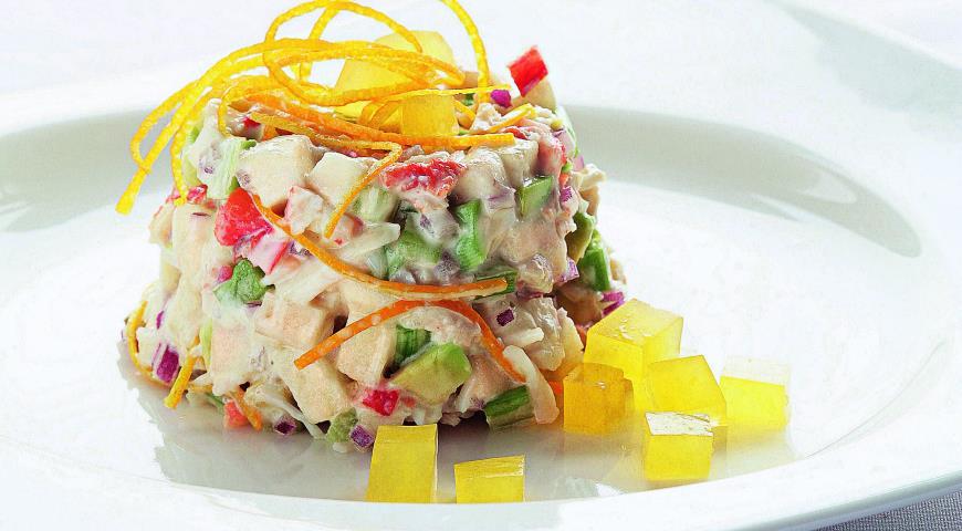 салат рисовый с крабовыми палочками