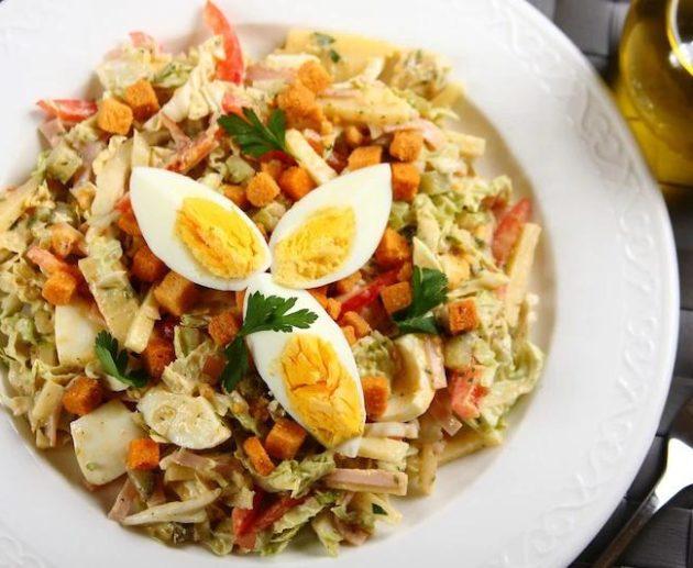 Салат «Шеф-повар» с китайской капустой
